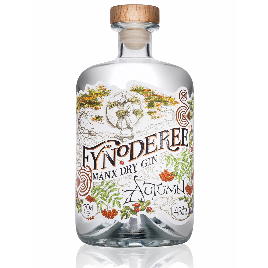 SOLD OUT: Fynoderee Manx Dry Gin - Autumn Edition Gin - returning Sept 2019!