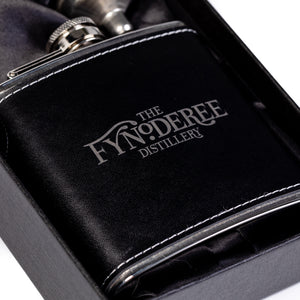 The Fynoderee Distillery 6oz Hip Flask - Black