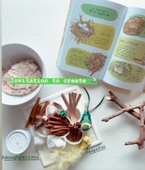 Art supplies for creating bird nests