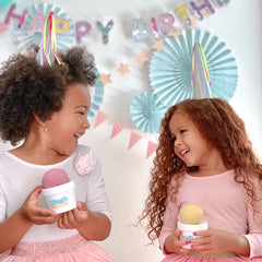 two girls having a birthday party with Dough Parlour dough