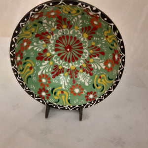 "5"" light green patterned Turkish bowl"