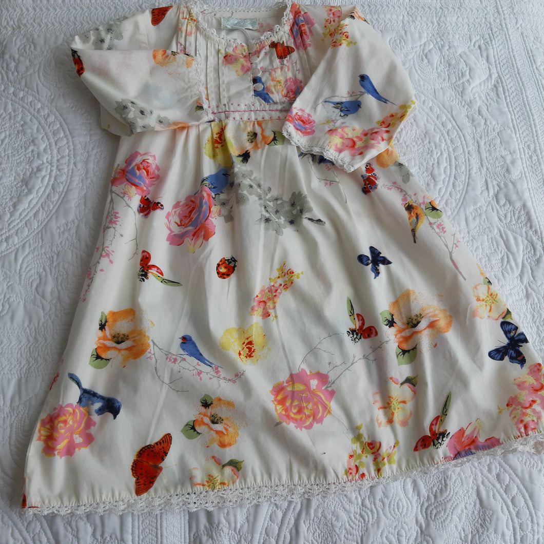 Powell craft cream floral nightdress