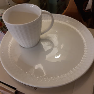 Grafton belleek cup and tray