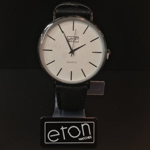 Eton Watch Black Leather Strap