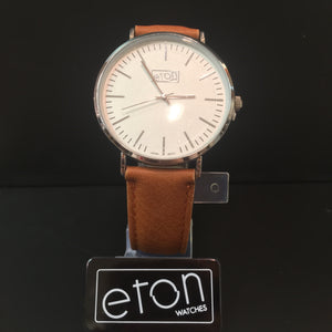 Eton Watch Brown Leather Strap & White Face