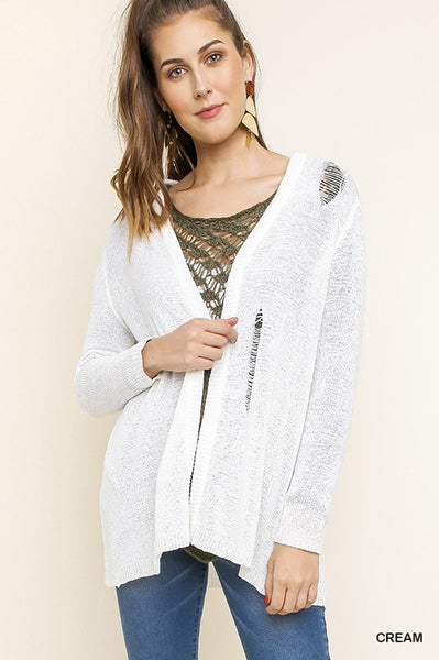 Distressed Cardigan Sizes S-3X