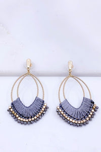 Threaded statement earrings