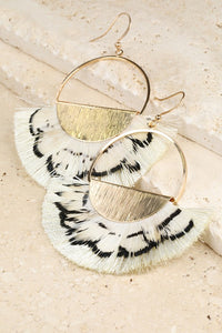 Semicircle Feather Earrings