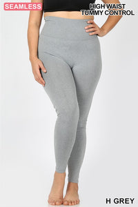 Curvy Tummy Control Seamless Leggings
