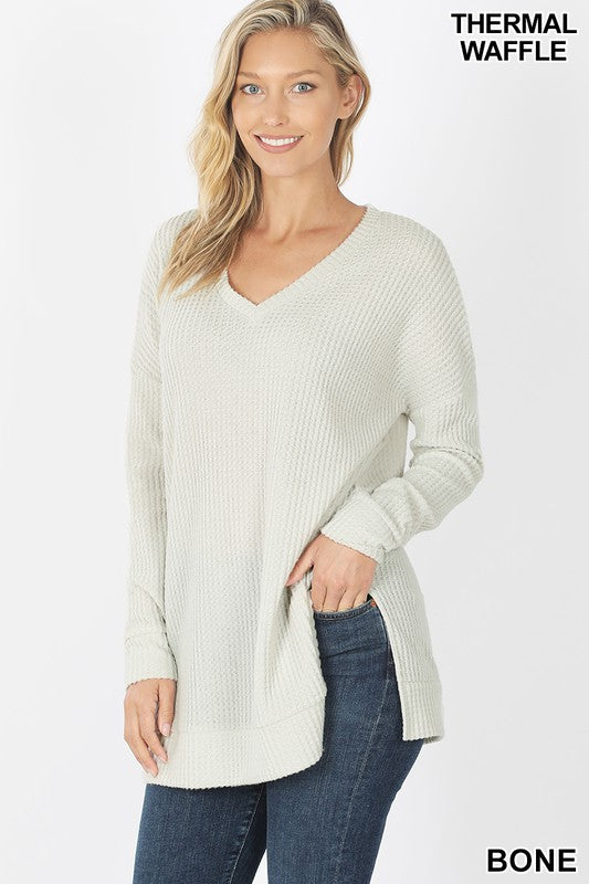 Brushed Thermal V-neck Tunic S-XL