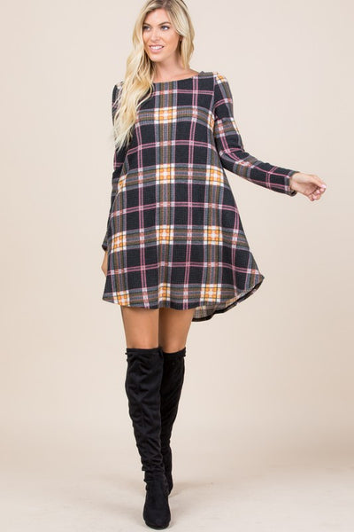 Plaidly in love waffle dress
