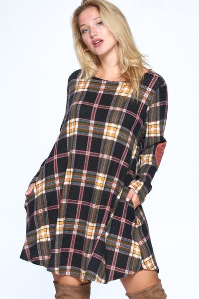 Curvy Plaidly in love waffle dress