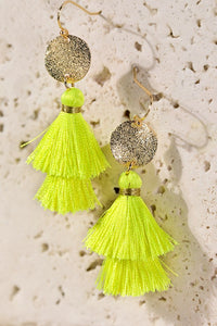 Neon Tassel Earrings