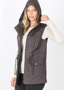 In-Vested in You utility vest with hood