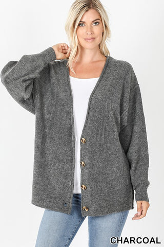 Grandpa Cozy Oversized Button Cardigan S-XL