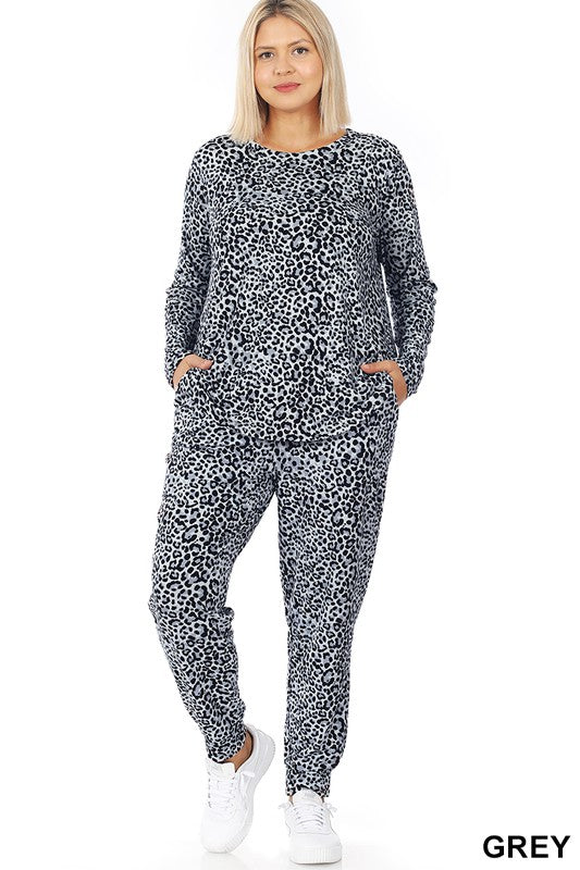 Curvy Leopard Lounge Set XL-3X