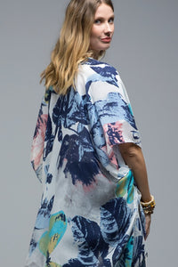 Tropical Leaf light weight kimono/cover-up