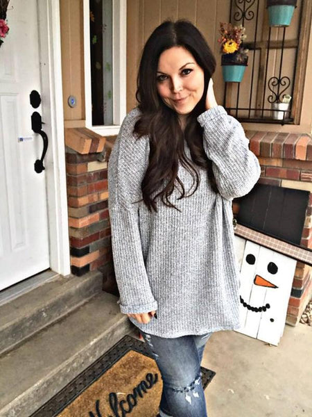 Snowflake Round neck sweater