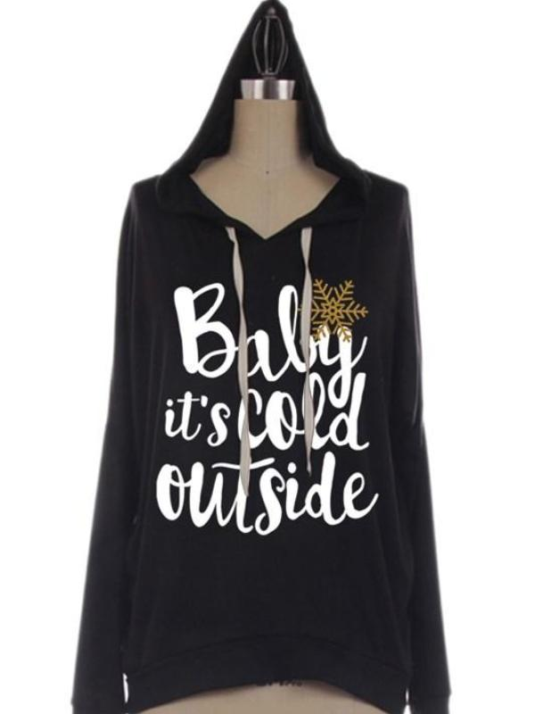 Curvy Baby It's Cold Outside Hoodie