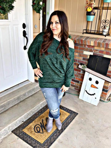 Sweater Weather Off the Shoulder Dolman Top