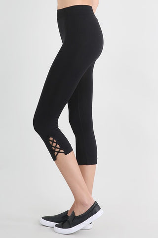 Premier Seamless Capri's with Criss-Cross detail