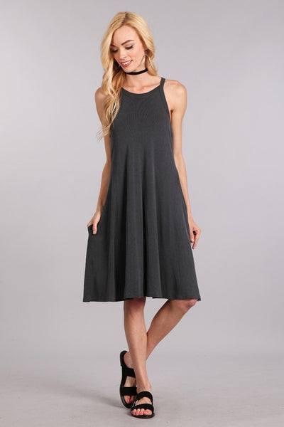 Traci Racerback Tank dress with Pockets