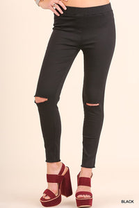 Rebel Ripped Knee Stretch Jegging