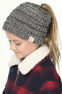 Kids High Pony/Messy Bun Beanie