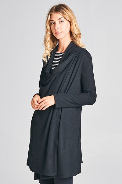 Drapable Cardigan with Button