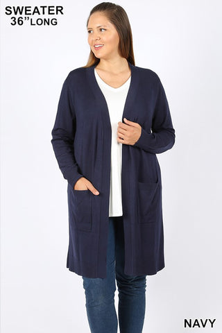 Curvy Check Me Out Cardigan