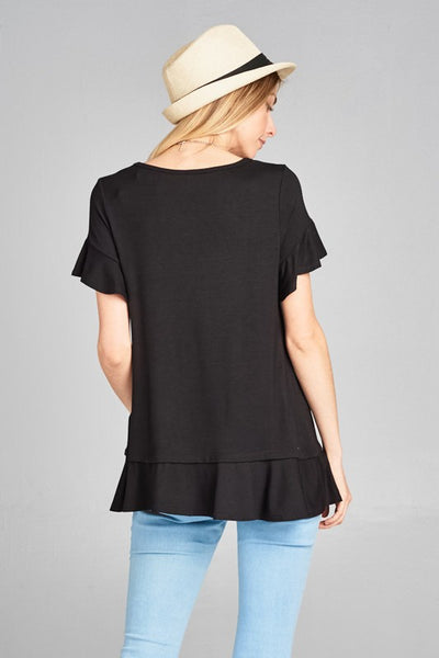 Andrea Flutter Sleeve Top