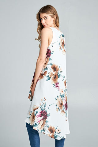 Floral Dreams High Low Vest Kimono