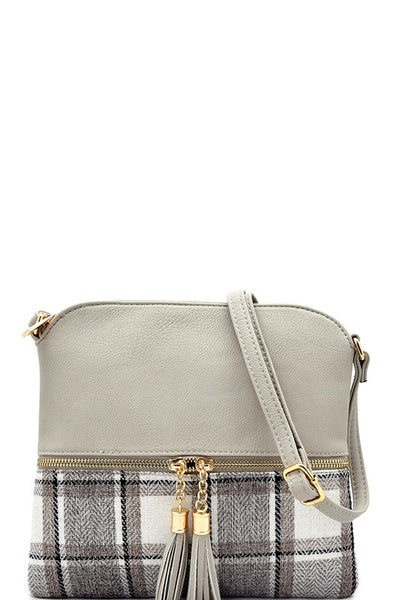Feels Like Fall Plaid Cross Body Bag