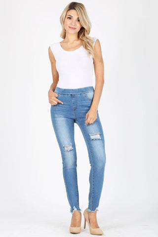 Medium Washed Distressed Jeans
