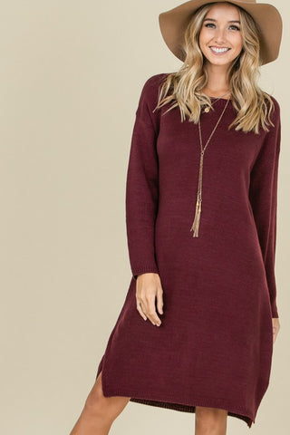 Sweater Dress with Tie Back Detail