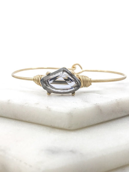 Pronged Stone Wire Wrap Bracelet