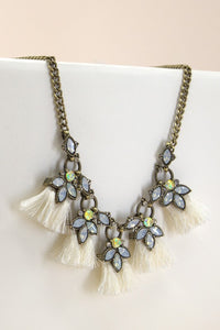 Antique Tassel Statement Necklace