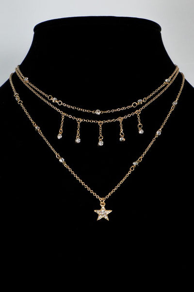 Shoot For the Stars Layered Necklace