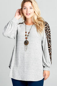 Curvy Walk on the Wild Side Balloon Sleeve top