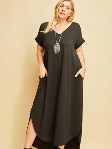 Curvy Totally Wearable T-shirt Maxi Dress
