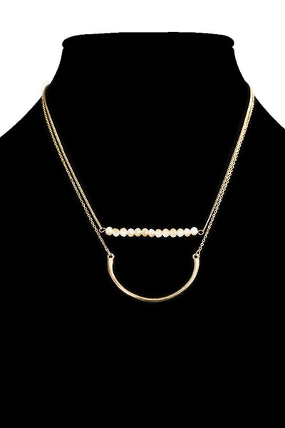 Double Layer Bar Necklace