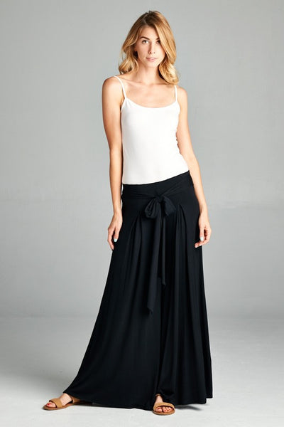 Calla High Waisted Palazzo Pant with Tie