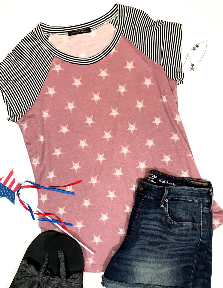 Plus Liberty Stars & Stripes Top