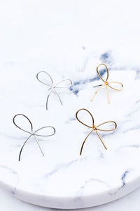 Dainty Ribbon Stud Earrings