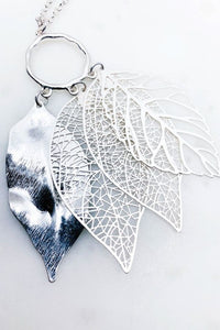 Multi Leaf Pendant Necklace