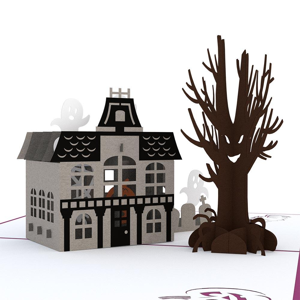 Haunted House 3D Greeting Card