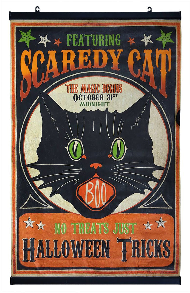 Scaredy Cat Halloween Scroll