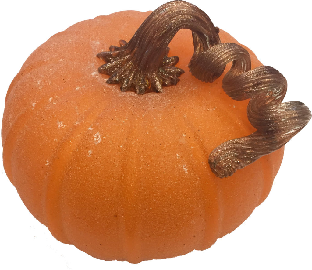 Halloween Glass Pumpkin - Medium