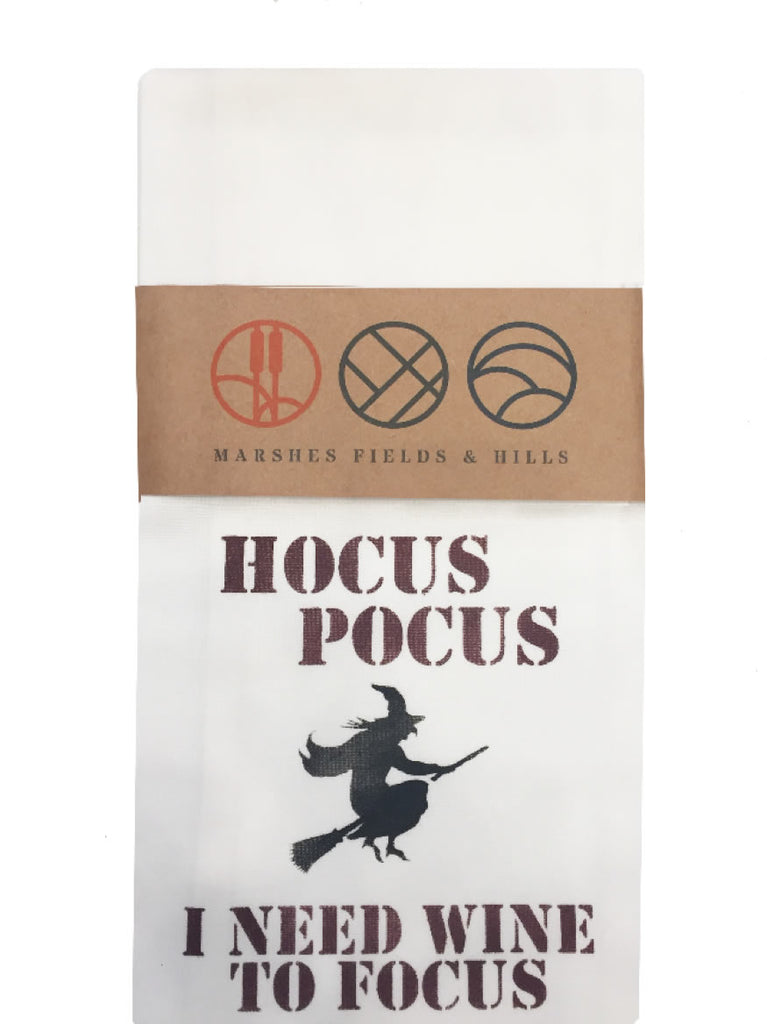 Hocus Pocus - I Need Wine to Focus Dish Towel