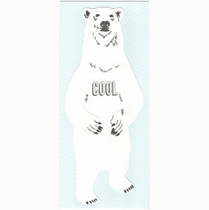 Blackbird Letterpress - cool polar bear gift card